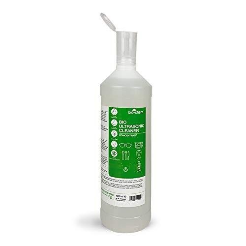 bio-chem Bio Ultraschallreiniger Konzentrat 1000 ml inkl. Dosierhilfe, geruchsfrei, alkoholfrei, Reinigungszusatz für Ultraschallgeräte/Ultrasonic-Cleaner für Brillen, Schmuck u.v.m.