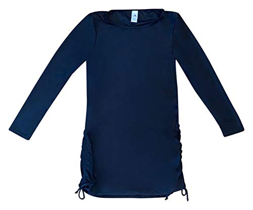Dreamwave Women's Black Modest Swimsuit Rash Guard Rashguard Swim Suit Extra Large