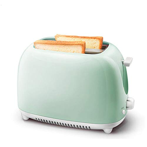 Toaster Two Slice Toaster, 2-Slice Toaster, 650W, 5 Variable Browning Settings, Defrost and Cancel Functions, Removable Crumb Tray,Green