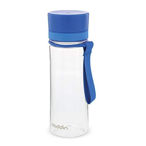 Aladdin Aveo Water Bottle 0.35L Azul – Amplia Abertura - Libre de BPA - Boquilla Para Beber Fácilmente - Resistente a Manchas y Olores - Apta Para Lavavajillas