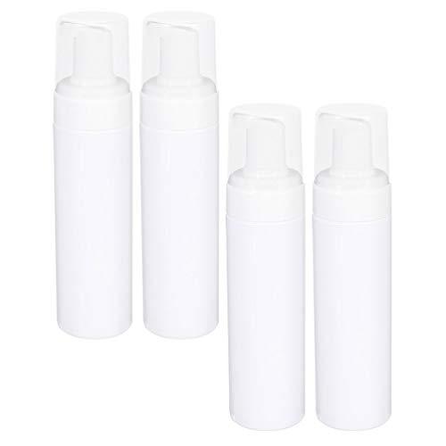 HEALLILY Dispensador de Botellas de Espuma de 4 Piezas Dispensador de Jabón de Espuma de Plástico de 250Ml Dispensador de Botellas de Jabón de Loción Portátil de Viaje Dispensador de Jabón