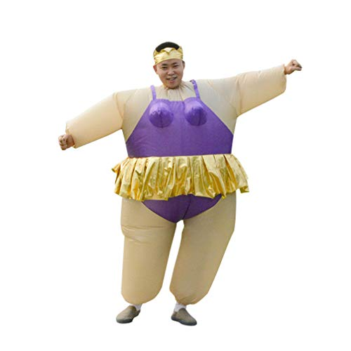 HHARTS Ballet Inflatable Costume Blow up Ballerina Costume for Halloween Cosplay Party Christmas (Purple)