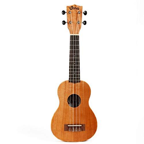 Xhtoe Konzert-Ukulele Mahagoni Ukulele Hawaii-Gitarre mit Tasche Ukulele for Musik Anfänger Natur Musikinstrumente & DJ-Equipment (Color : Natural, Size : 23 inches)