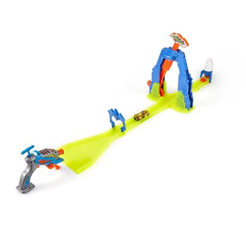 La Leyenda de Spark 1 Lanzador Turbo Reactor + vehículo 29 km/h Hardy – Circuito Pista Péndulo Fiérle a la Serie TV – Juguete Coche niño 5 años y +, FR222033, Multicolor