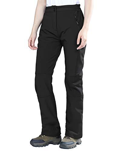 Outdoor Ventures Women's Idra Fleece Lined Pants Outdoor Softshell Waterproof Insulated Hiking Ski Snow Warm Trousers