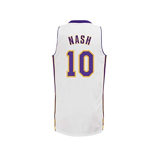 FYZS Herren-Basketball-Trikots L.A.Lakers NO.10 Steve Nash Basketball Jerseys, atmungsaktiv und Abrasion Swag Sportkleidung, Hip Hop Kleidung for Partei (Color : B, Size : S)
