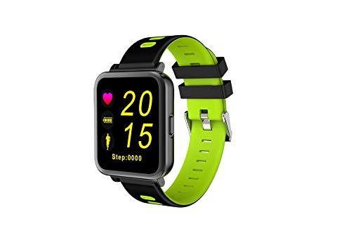 PNCS Pulsera de Actividad Indicador de Alarma de Ritmo cardíaco Bluetooth con información de Reloj de Paso de Reloj Deportivo Adecuado para Regalos de Viaje al Aire Libre,Green