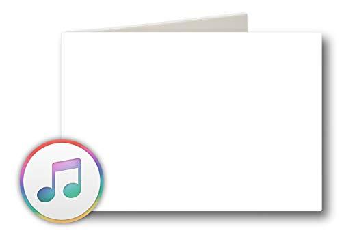 PlayMegram blanko Audio-Grußkarte mit USB Anschluss und 128 MB Speicher, Für Sprachnachrichten und Musik bis 128 Min, Audiogrußkarte, Musikkarte, Geburtstag, Musik Geschenk, Kreative Geschenkidee
