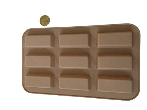 9 barritas rectangulares alargadas para bombones de silicona, molde para chocolate, cubitos de hielo, bombones, bombones, caramelos, barritas de chocolate, hacer azúcar, cupcakes, galletas, pasteles, manualidades, hornear, adornar formas de Royal House ware