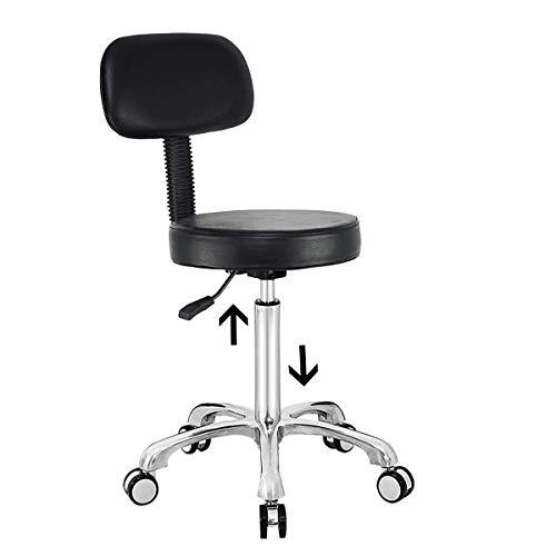 GT-LYD Salonhocker, Heght Einstellbare Rollen Drafting, Stuhl Mit Rädern Und Zurück Für Office Shop Küchen Medizinischen Salon