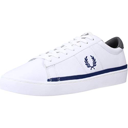 Fred Perry Spencer Leather White Blue 45