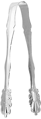Elegance Silver 86242 Silver Plated Ice Tongs, 7'