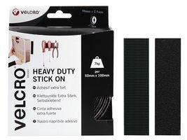 VELCRO - Heavy Duty Stick on Tape 50mm x 2,5 Meter schwarz - Klettband zum Aufkleben Haft und Flauschteil EXTRA STARK(BxL) 50mm x 2,5 Meter schwarz