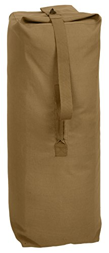 Rothco Top Load Canvas Duffle Bag, 25'' x 42'', Coyote