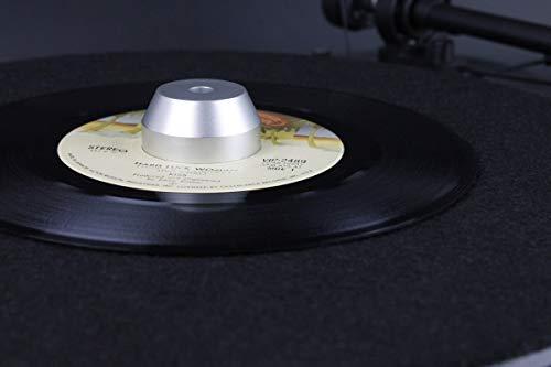 MC DAISON MDH 5 adattatore puck spindle deluxe in alluminio per 45 giri per giradischi
