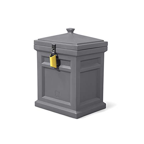 Step2 Deluxe Package Delivery Box, Manor Gray with BoxLock & Yard Kit- Protect Packages Delivered by All Major U.S. Carriers