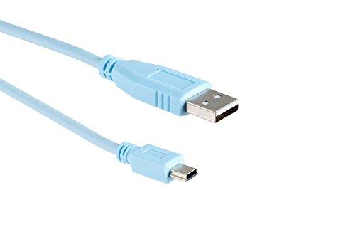 Cisco Blue USB Console Cable, 6ft, Compatible, CAB-Console-USB, Lifetime Wty