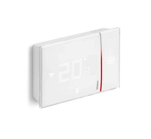 Bticino Termostato conectado Smarther2with Netatmo de Legrand en color blanco, control de temperatura del hogar en remoto e instalación 2 hilos en superficie