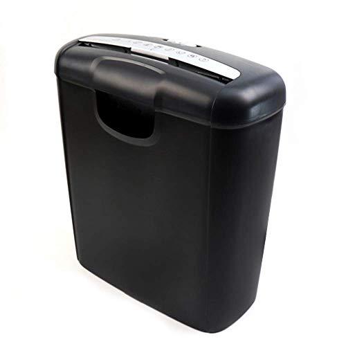unknow Aktenvernichter, 6-Blatt-Papierschredder und Kreditkarten-Aktenvernichter Leise Hochleistungs-10-Liter-Papierkorb-Aktenvernichter Home Stationery Office Supplies Crusher