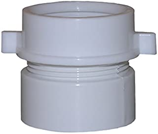 LASCO 03-4253 White Plastic Tubular 1-1/2-Inch Slip Joint by 1-1/2-Inch PVC Schedule 40 Glue Joint Adapter