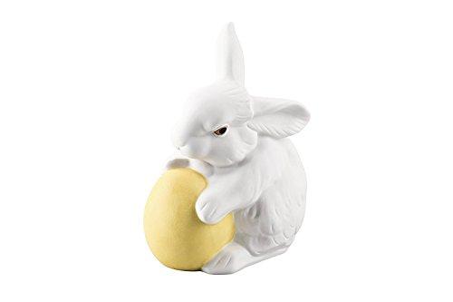 Hutschenreuther Ei 10 cm dekoriert Porzellan-Hase, bunt, 10 x 7 cm