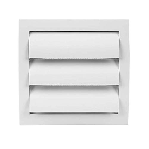 Exhaust Hood Vent with Built-in Pest Guard Screen, White, Air Vent Cover, HVAC Exhaust Vent Duct Cover, Exhaust Cap (4'' Inch, White)