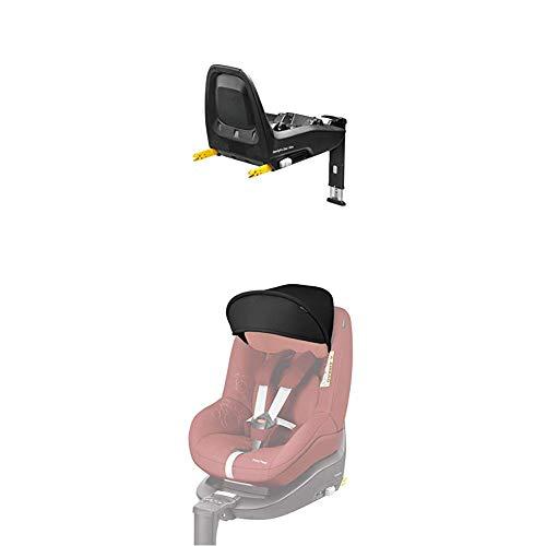 Maxi-Cosi Pearl ONE i-Size Reboarder passend zur FamilyFix ONE i-Size Basisstation, Kinderautositz Gruppe 1 (9-18 kg), nomad grey (grau) + Sonnenverdeck, black (schwarz)