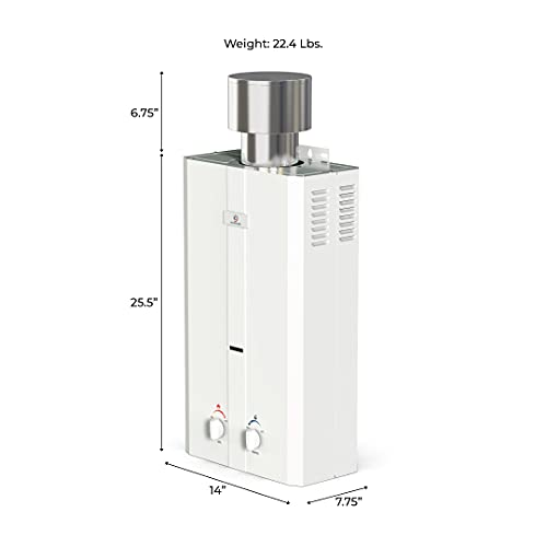 Eccotemp L10 2.6 GPM Portable Tankless Water Heater, 1 Pack, White