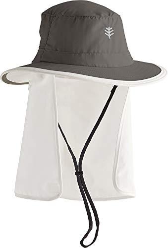 Coolibar UV-Schutz Hut Mit Versteckbarem Nackenschutz, Grau, S/M