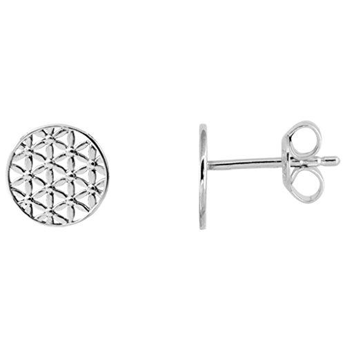 XENOX Ohrringe XS2911 Damen Ohrstecker Lebensblume Symbolic Power Sterling-Silber 925 Silber