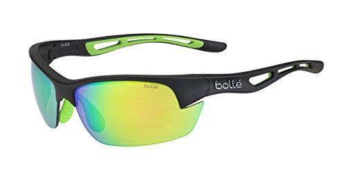 Bolle Bolt S Photo V3 Golf Sunglasses, Matte Black Green Rubber/Brown Emerald