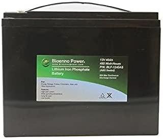 Bioenno Power 12V, 40Ah LFP LiFePO4 Lithium Iron Phosphate Battery (ABS, BLF-1240AS)