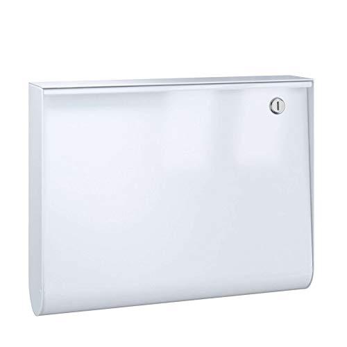 U-Box Briefkasten 40 x 8,4 cm - weiß/weiß