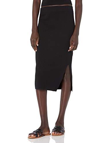 The Drop Women's Vera Slim Side Slit Midi Sweater Skirt,...