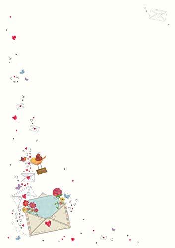 Briefpapier Set 10 Blatt inkl. 10 hochwertige Umschläge geripptes Feinpapier 100g/m² DIN A4 Druck PremiumLine cremefarbenes Schreibpapier Briefbogen Skorpion (Post)