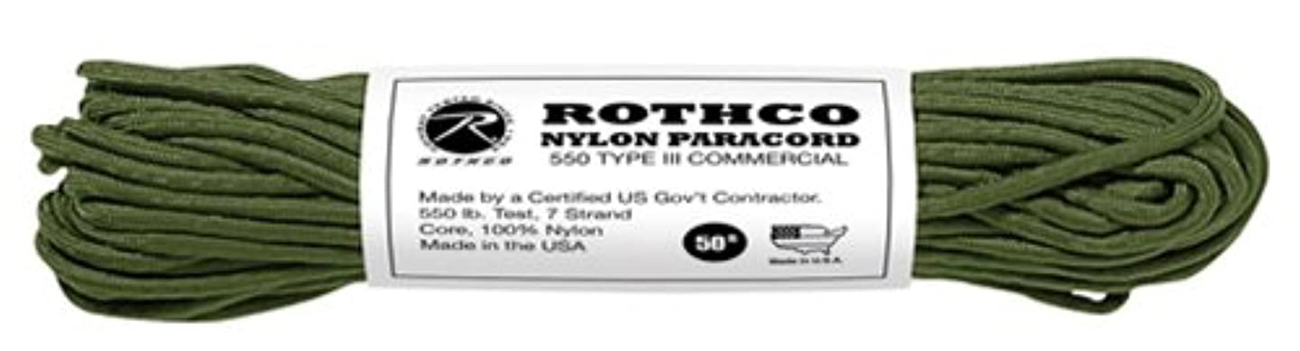 によって役割比類のないROTHCO パラコード タイプ3 オリーブドラブ