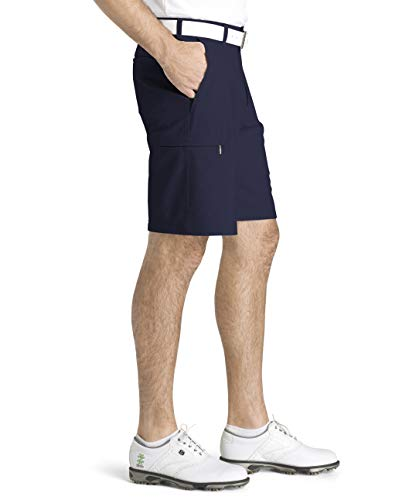 IZOD Men's Golf SwingFlex Cargo Short, Peacoat, 30