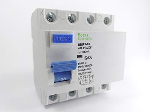Interruptor Diferencial 40A, 4P Trifásico (3P+N), Clase A SI Super Inmunizado (300mA)