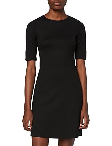 Marca Amazon - find. Vestido Corto con Estampado de Rayas para Mujer, Gris (Black), 40, Label: M