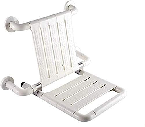 Acolchado SillaDe Ducha, Taburetes Baño Taburete antideslizante Asiento de ducha Taburete de asiento de pared de pared plegable Espacio de taburete 304 Acero inoxidable Taburete de asiento de ducha de