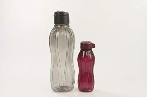TUPPERWARE Bottela Ecológica con Click Tapa de 1,0 L negro + 310...