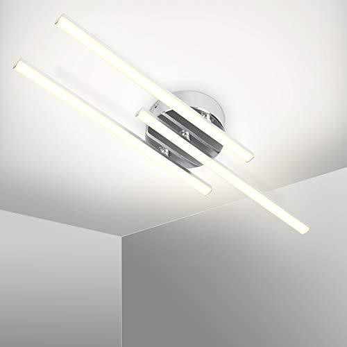 Kingwei Plafonnier LED Design Moderne Lampe Plafond,3 Platines LED Pivotantes,Lumière Blanche Neutre 5500K, LED 3x6W Intégrées 3x400 Lumen,Lustre Moderne pour Salon ou Cuisine