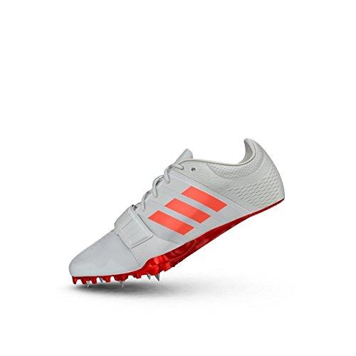 adidas Unisex-Erwachsene Adizero Accelerator Leichtathletikschuhe, Weiß (FTW White/Solar Red/Silver Metallic), 44 2/3 EU