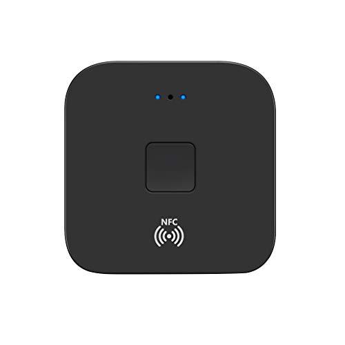 Guangcailun NFC Bluetooth 5.0 Receptor del Coche del Altavoz de 3,5 mm AUX 2 * RCA Jack Adaptador inalámbrico