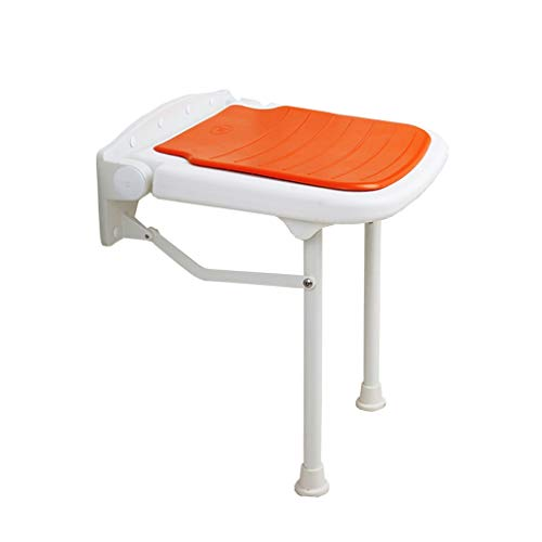 TLMY wandmontage, hoogwaardige kunststof douchestoel met opklapbare ligstoel (ondersteuning gewicht tot 550 pond en 17,7 inch) douchestoel