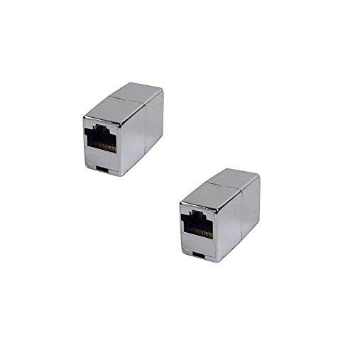 BIGtec 2 Stück RJ45 Ethernet LAN Kabel Kupplung Adapter Verbinder Netzwerk Modular Netzwerkkoppler für Patchkabel Netzwerkkabel Ethernetlan Ethernetkabel verlängern Verlängerung