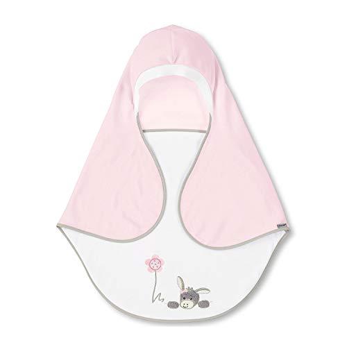 Sterntaler Einschlagdecke Emmi Girl, Alter: Für Babys ab der Geburt, 68 x 80 cm, Rosa/Weiß