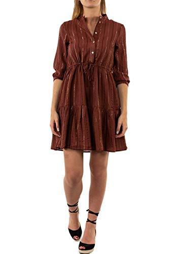 VERO MODA Damen VMOVIDA 3/4 Short Dress WVN Kleid, Sable, S