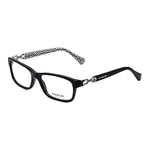 Coach Women's HC6052 Eyeglasses Black/Black White Sig C 54mm