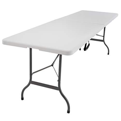 SONLEX XXL Partytisch Klapptisch 240 x 70 cm weiß Gartentisch Catering Esstisch wetterfest bis 150 kg für 10 Personen klappbar stabil